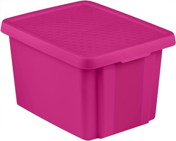 Pojemnik Pudełko Z Pokrywą ESSENTIALS 26L Fioletowy Curver