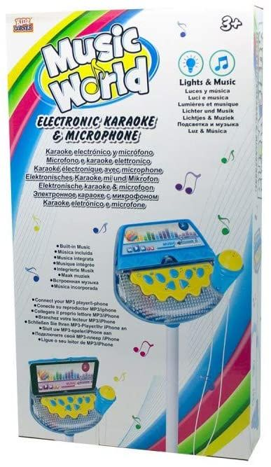 Kidz 435985 mikrofon cyfrowy i karaoke, jasnoniebieski