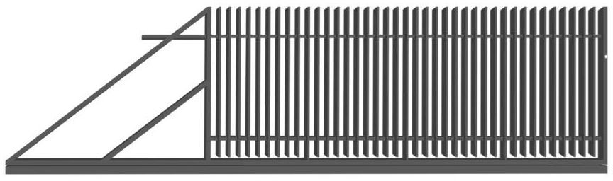 Brama przesuwna z automatem NEGROS 400 x 150 cm lewa POLBRAM