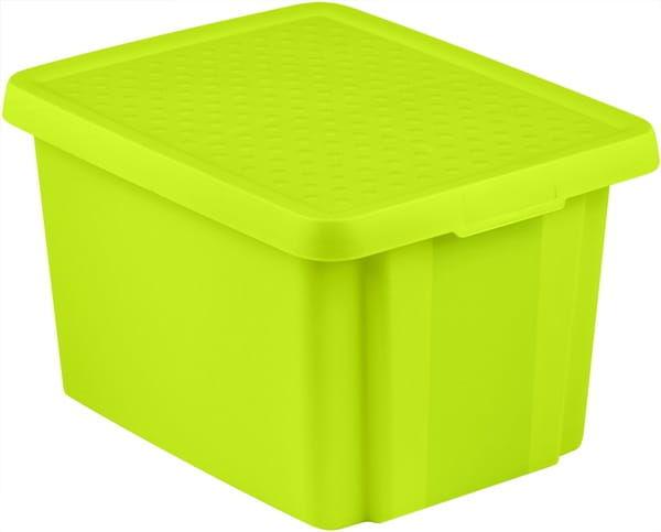 Pojemnik Pudełko Z Pokrywą ESSENTIALS 26L Zielony Curver