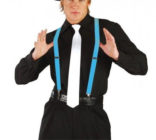 Szelki do spodni, niebieskie neonowe