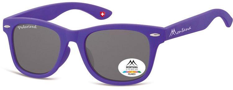 Okulary dziecięce nerdy Montana 967F polaryzacyjne matowe fioletowe