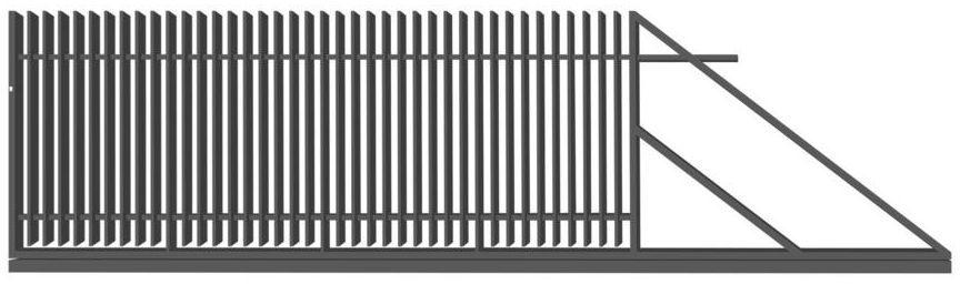 Brama przesuwna z automatem NEGROS 400 x 150 cm prawa POLBRAM