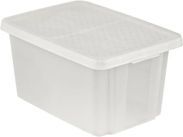 Pojemnik Pudełko Z Pokrywą ESSENTIALS 45L Biały Curver