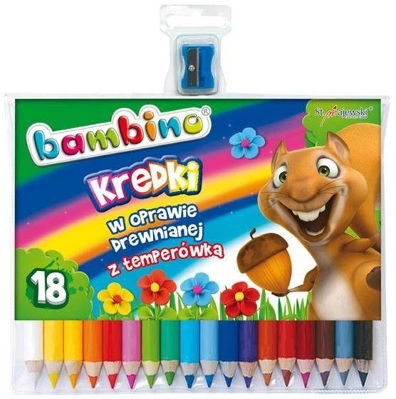 Kredki ołówkowe 18 kolorów BAMBINO - ST-MAJEWSKI