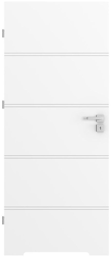 Skrzydło drzwiowe z podcięciem wentylacyjnym TRIM Białe 70 Lewe PORTA