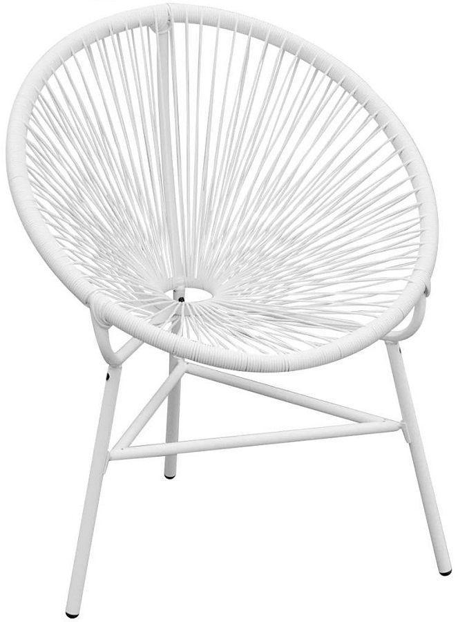 Krzesło ogrodowe Corrigan - białe