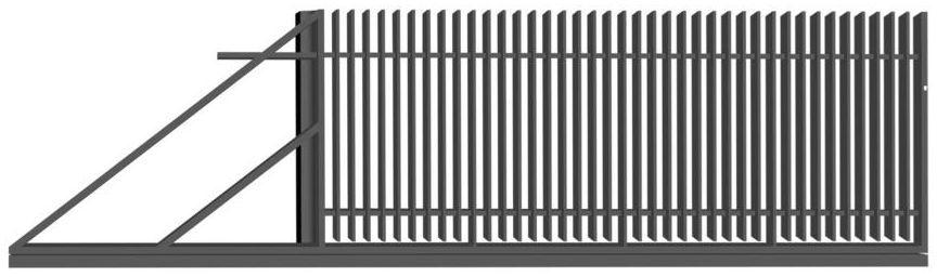 Brama przesuwna NEGROS 400 x 150 cm lewa POLBRAM