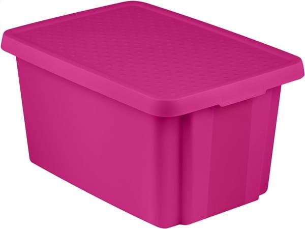 Pojemnik Pudełko Z Pokrywą ESSENTIALS 45L Fioletowy Curver