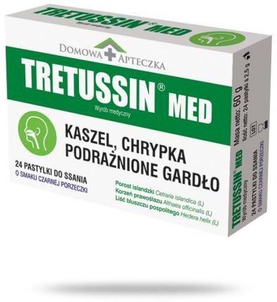 Tretussin Med o smaku czarnej porzeczki 24 pastylki do ssania