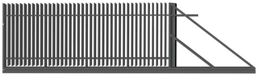 Brama przesuwna NEGROS 400 x 150 cm prawa POLBRAM