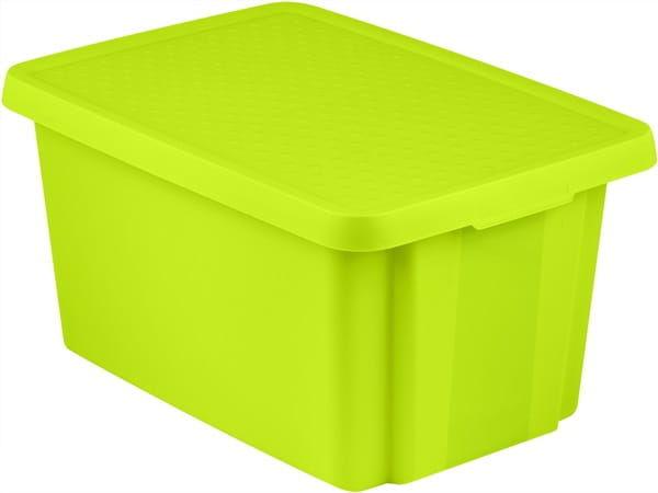 Pojemnik Pudełko Z Pokrywą ESSENTIALS 45L Zielony Curver