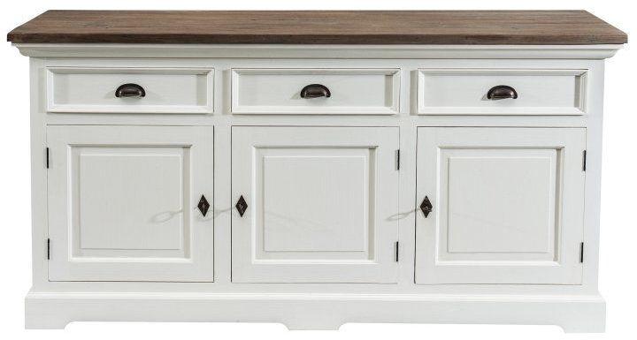 Komoda Brighton 180x55x95cm white&natural grey