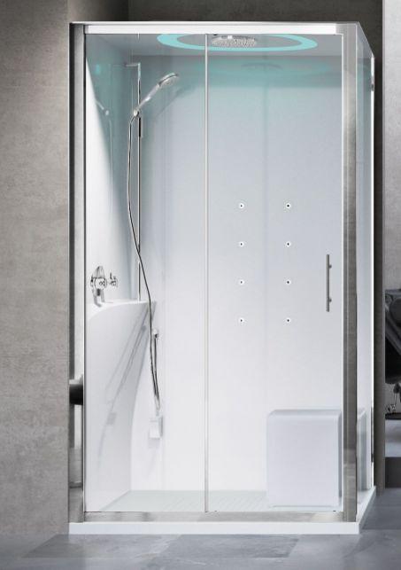 Novellini Eon kabina prostokątna z hydromasażem 120x80 lewa EON2P120SM1F-1AK