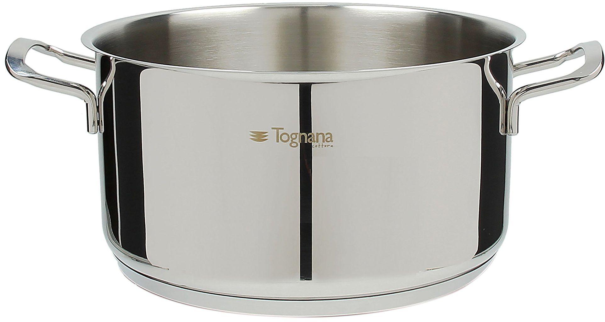 Tognana vanitosa garnek do pieczenia 28 cm z 2 uchwytami, stal nierdzewna, srebrny