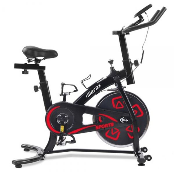 Wewnętrzny rower treningowy Merax - czarny i czerwony
