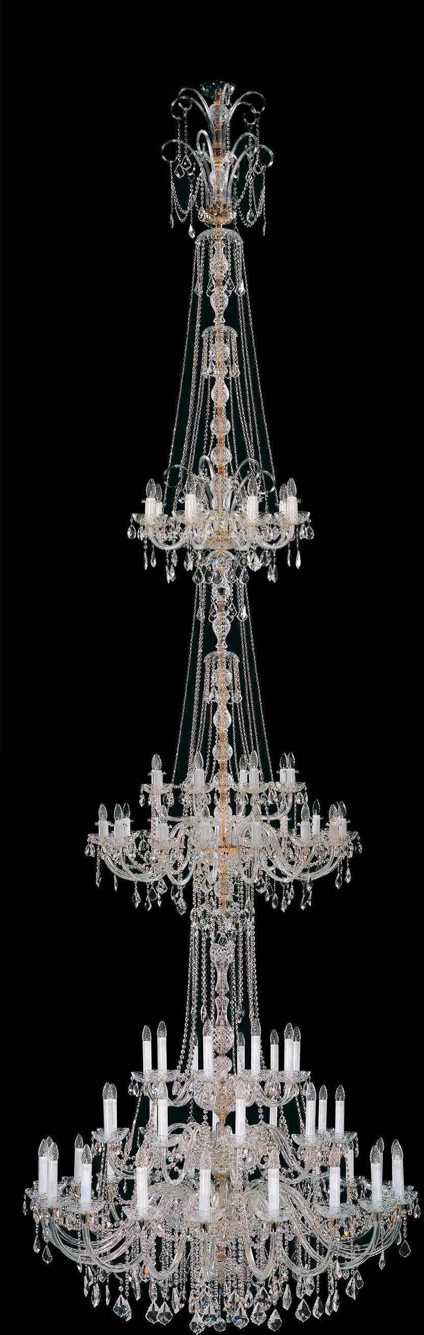 Żyrandol kryształowy pałacowy 66-ramienny - Elite Bohemia