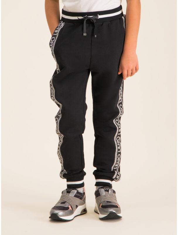 Liu Jo Kids Spodnie dresowe Felpa Lungo G69214 F0090 Czarny Regular Fit
