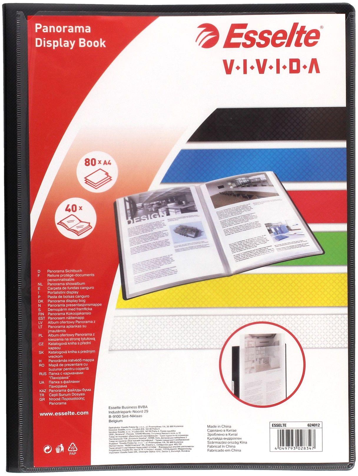 Album ofertowy/panora A4/40 czarny Vivida Esselte