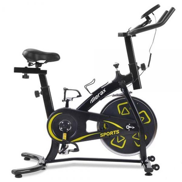 Wewnętrzny rower treningowy Merax - czarny i żółty