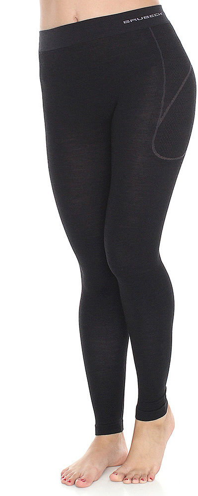 Legginsy damskie Brubeck Active Wool LE11700 black