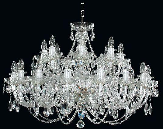 Żyrandol kryształowy pałacowy 24-ramienny - Elite Bohemia