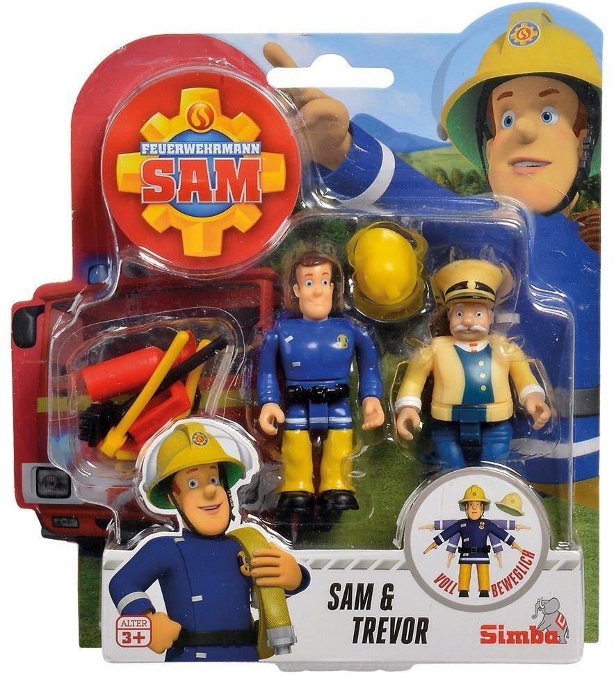 Figurki Strażak Sam, 2 figurki III, 4 rodzaje