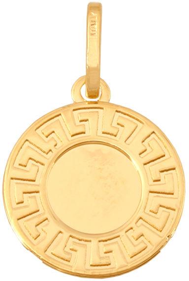 Złota zawieszka 585 kółeczko z greckim wzorem 0,60 g