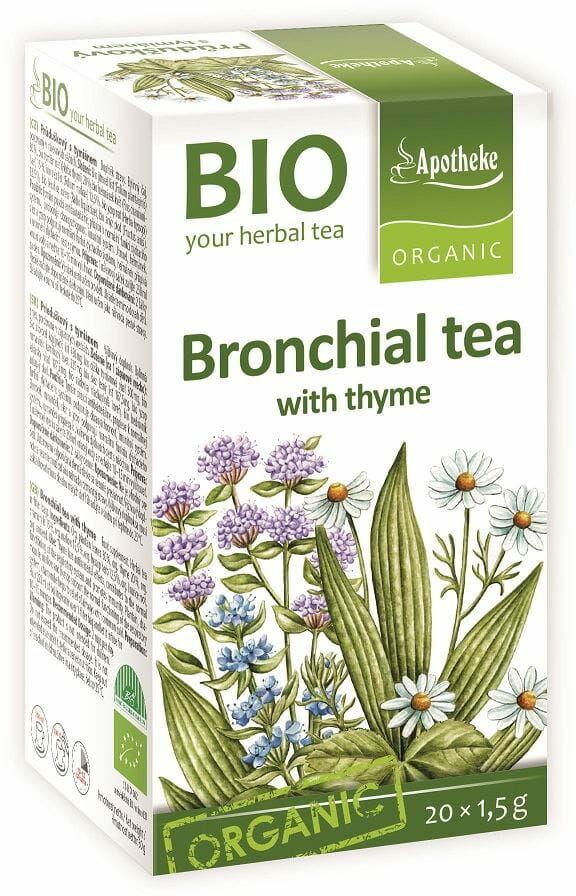 Herbatka na oskrzela z tymiankiem bio 20 x 1,5 g - apotheke