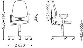 NOWY STYL Krzesło BRAVO Profil GTP # XXL