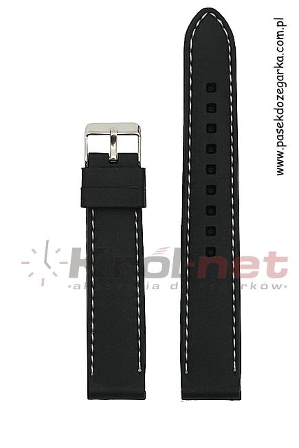 Pasek SBR10/01/24 - czarny, silikonowy