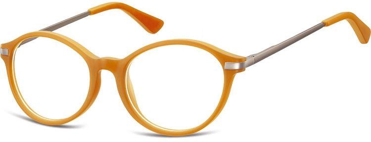 Okulary dziecięce zerówki okrągłe lenonki AK46A pomarańczowe