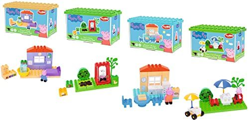BIG Bloxx Peppa Pig Basic Sets, zestaw dla początkujących fanów polnej Peppa, zestaw konstrukcyjny, zestaw BIG-Bloxx łącznie z figurką do zabawy, dla dzieci od 18 miesięcy