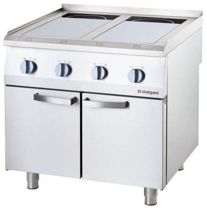 Kuchnia Indukcyjna 4-Polowa 14 kW 400 V z Szafką 2-Drzwiową