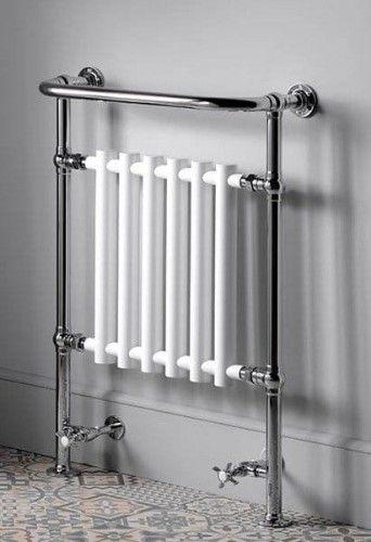 Grzejnik łazienkowy 675x960 mm, chrom / biały, CORK