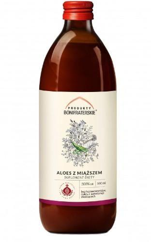 Produkty Bonifraterskie sok z aloesu z miąższem 500 ml