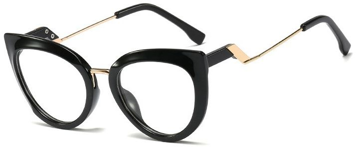 Okulary kocie do komputera damskie z filtrem BLUE Light zerówki 2570