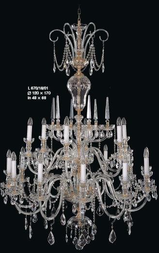 Żyrandol kryształowy pałacowy 18-ramienny - Elite Bohemia