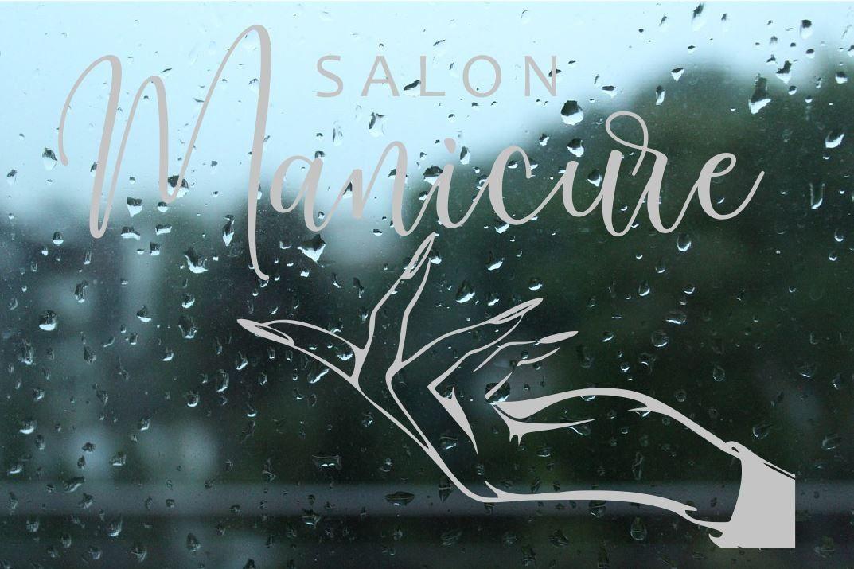Naklejka mrożone szkło: salon manicure