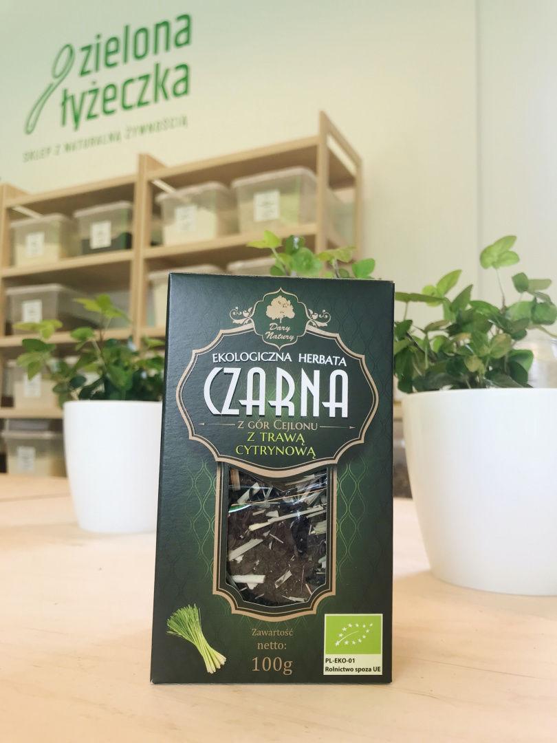 Ekologiczna herbata czarna cejlońska z trawą cytrynową