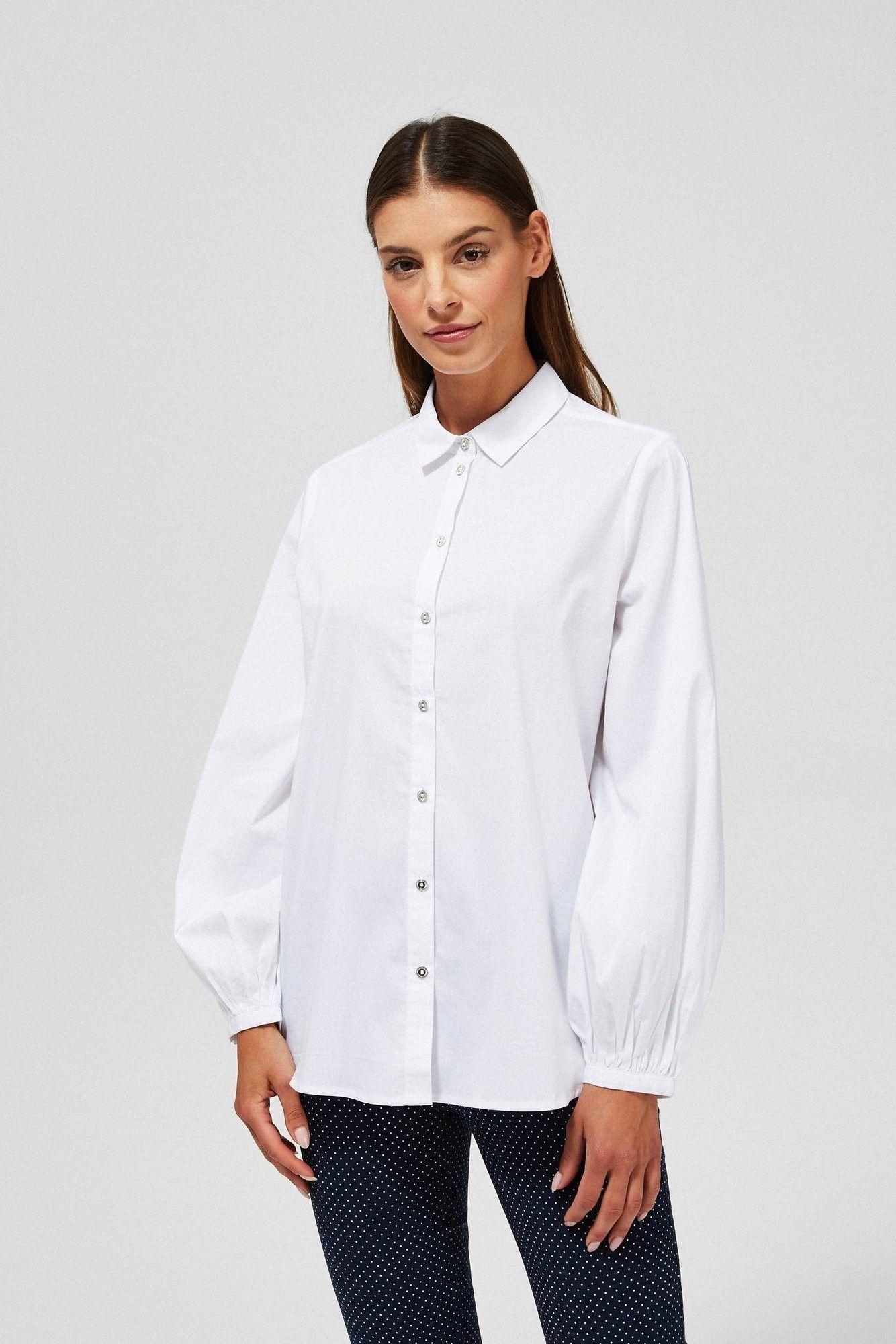 Koszula z bufiastymi rękawami