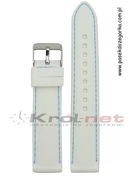 Pasek SBR10/22/18 - biały, silikonowy