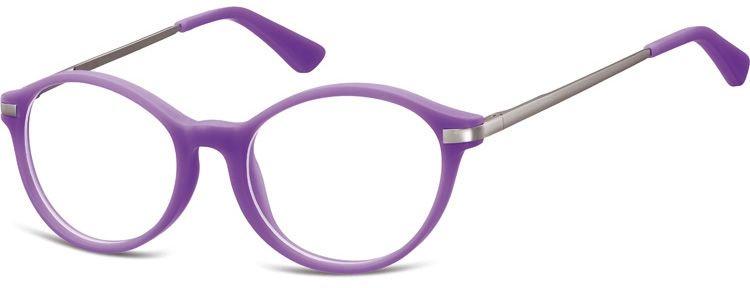 Okulary dziecięce zerówki okrągłe lenonki AK46D fioletowe