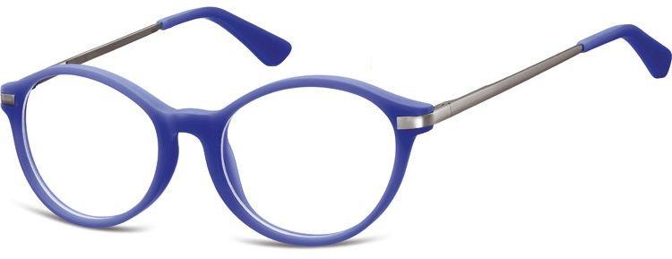 Okulary dziecięce zerówki okrągłe lenonki AK46E niebieskie