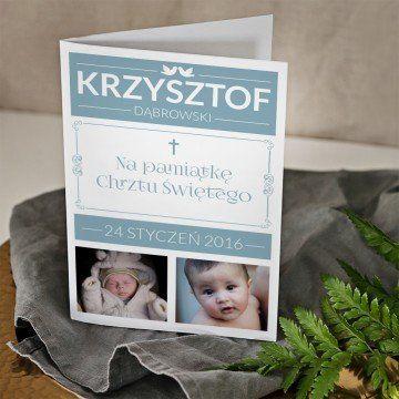 Z okazji chrztu chłopca - kartka z życzeniami