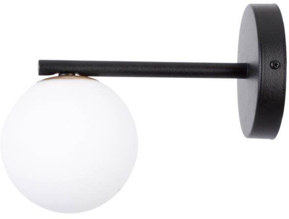 Lampa ścienna, szklana kula GAMA KINKIET czarny 33194