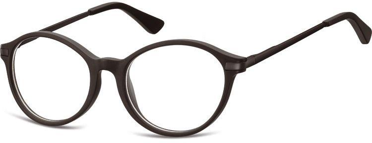 Okulary dziecięce zerówki okrągłe lenonki AK46G czarny