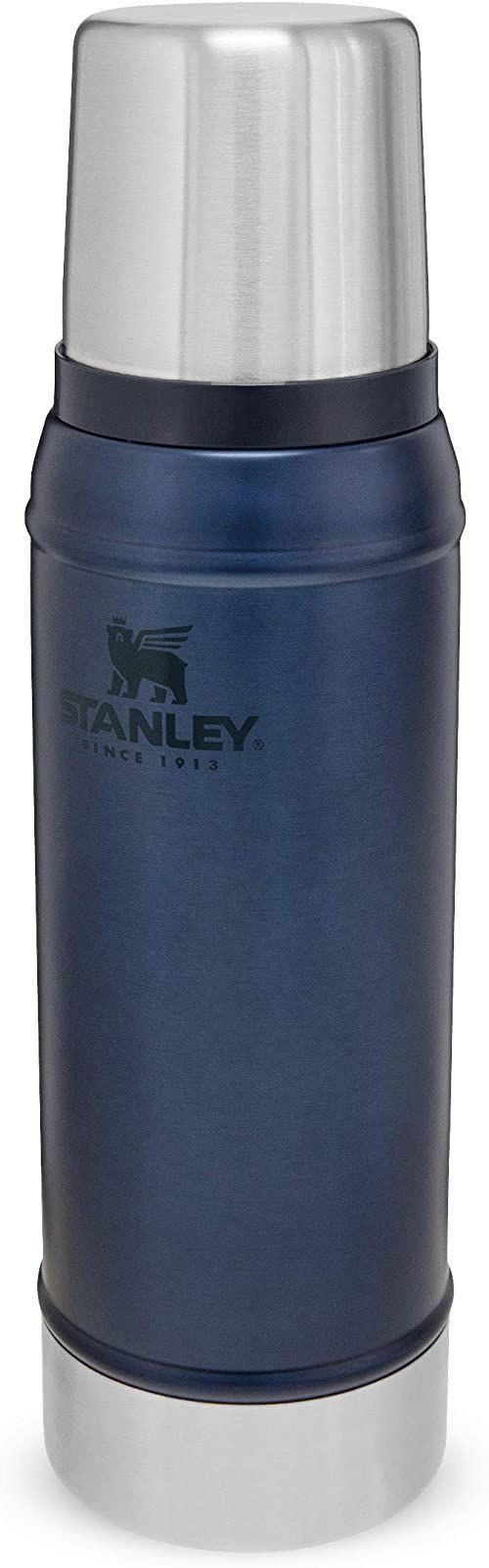 Stanley Classic Wide Mouth Flask 0.23L / 8OZ Nightfall with Never-Lose Cap  Piersiówka ze Stali Nierdzewnej z szerokim otworem do łatwego napełniania i nalewania - BEZ BPA