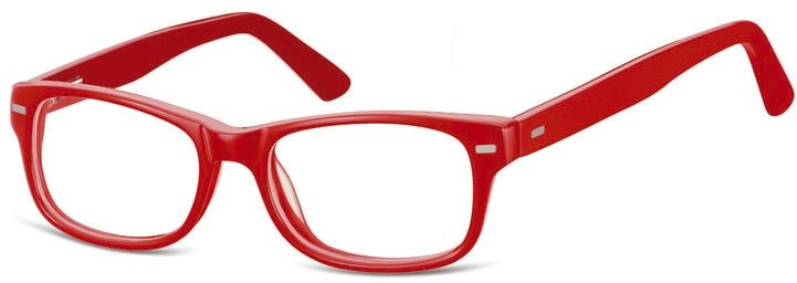 Okulary dziecięce zerówki Nerdy AK49 czerwone
