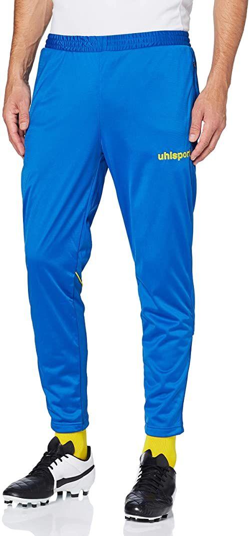 Uhlsport spodnie męskie STREAM 22 TRACK PANTS, lazurowo-niebieskie/limonkowo-żółte, XL